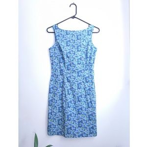 Early 2000s Express Periwinkle Blue Floral Dress